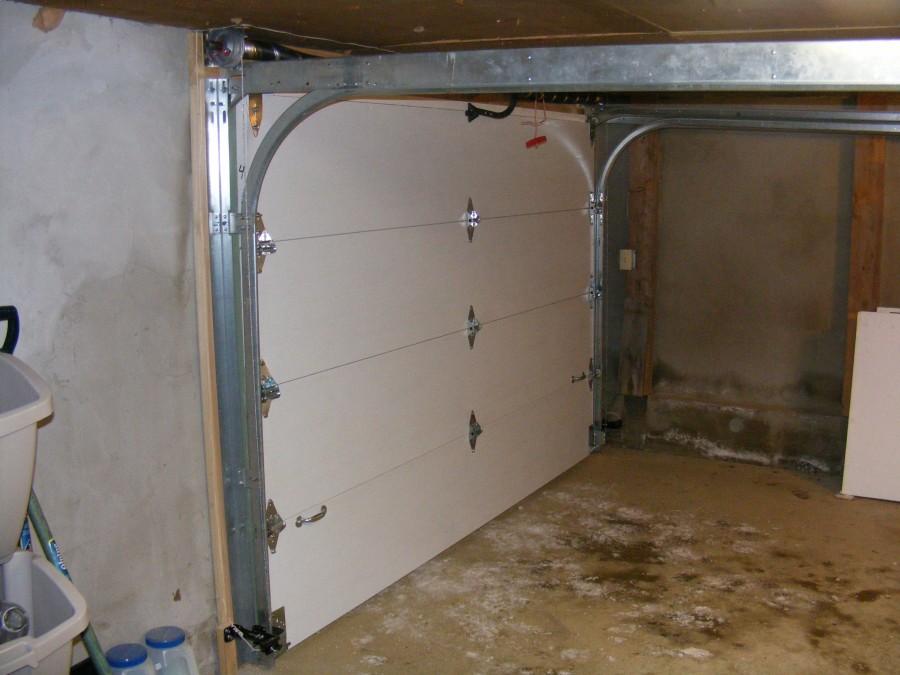 Low Headroom Garage Door Installation Exterior Hardware
