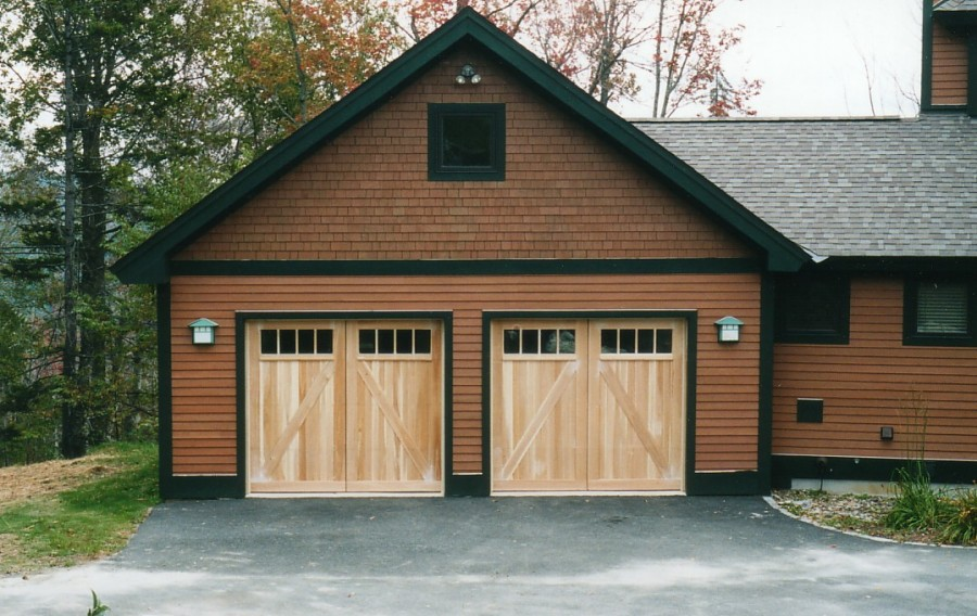 Barn Style Garage Doors Designed By Builder To Match The Existing