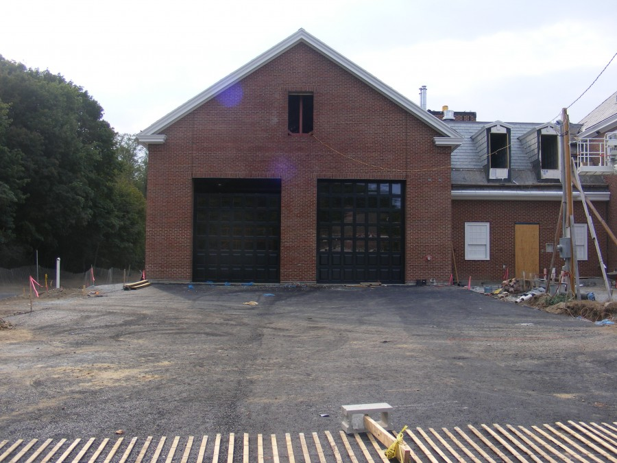 tall commercial garage doors fire house doors corrosion